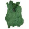 Rabbit Fur Skin - Medium Grade  Dyed Green (1pc)